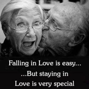 Falling in love is easy... But staying in love is very special